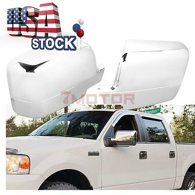 150 Pickup Truck Chrome Door Mirror Covers Fit 04-08 Ford F