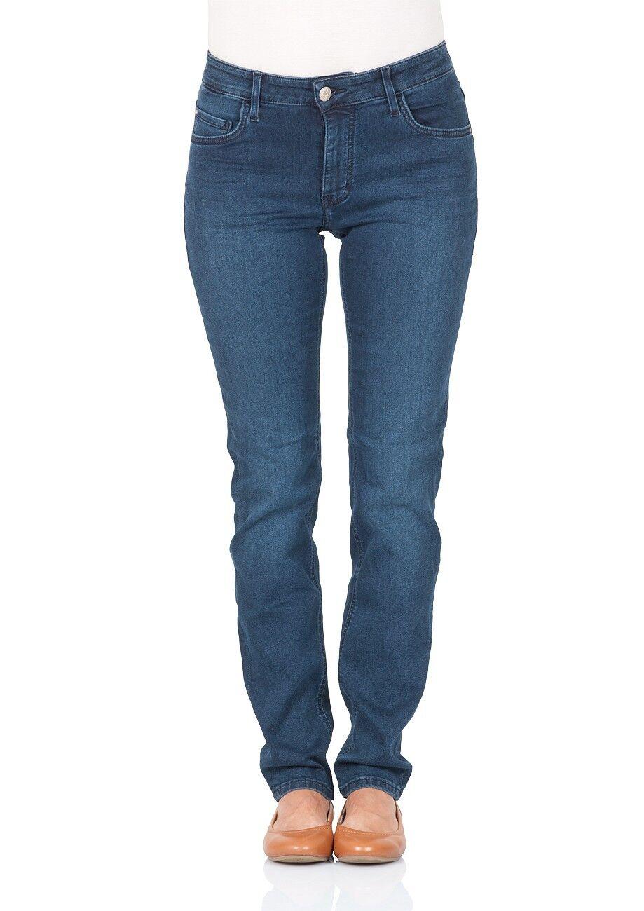 Mustang Damen Jeans Sissy Slim Fit - Straight Leg - Blau - Stone Wash