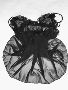 Initiative Combinaison Nylon Fond De Robe Nuisette Unterkleid Full Slip T 36/38 Neuve Sexy