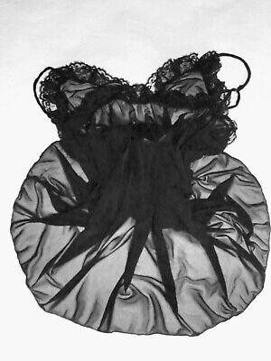 Combinaison Nylon Fond De Robe Nuisette Unterkleid Full Slip T 36/38 Neuve Sexy