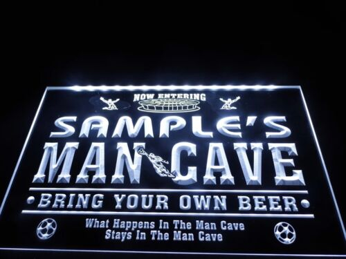 Personalised LED Man Cave Neon Bar Sign Home Light up Drink Pub Custom Mancave