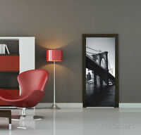 Brooklyn Bridge Door Wallpaper Mural Sticker - 37x82