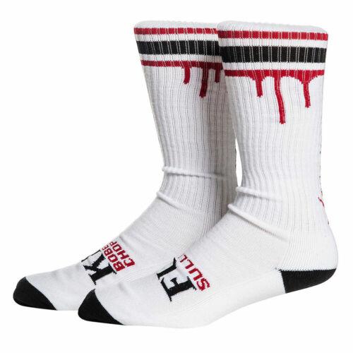 Sullen x Bobber/'s N Chopper/'s Don/'t Die High Mens Socks White Red Footwear Cl...