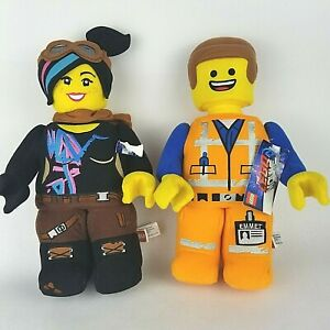NEW-The-LEGO-Movie-2-Plush-Lot-EMMET-amp-LUCY-Wildstyle-12-Stuffed-Toy-NWT