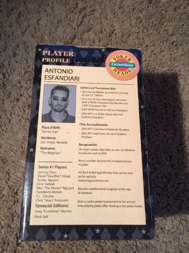 Stars of Poker Series Antonio Esfandiari Limited Edition Bobblehead with Box