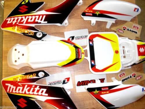 Pit Bike Honda Crf 50 Graphic//w plastic Rockstar Energy White kit