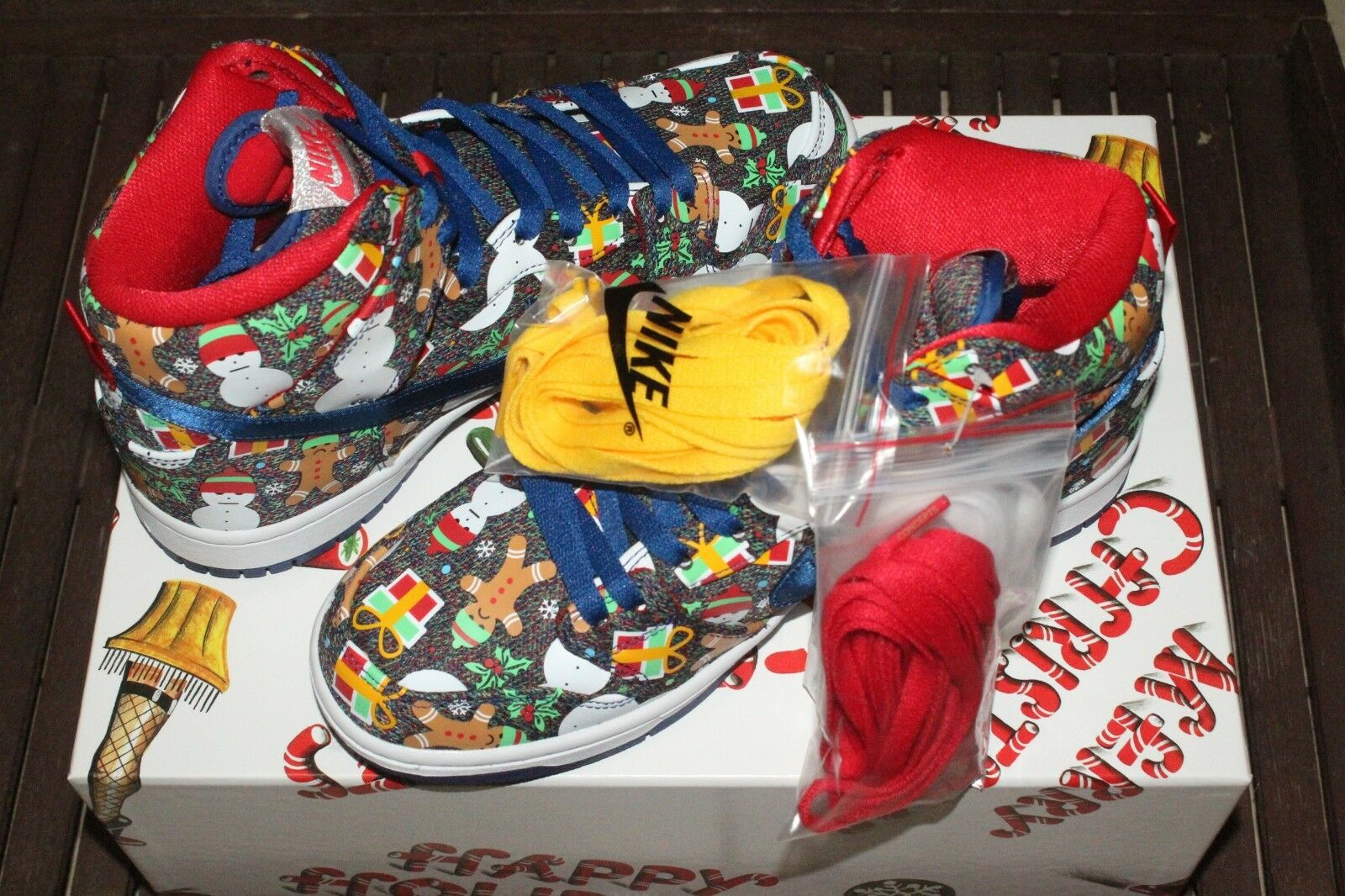 Nike SB SB SB Dunk High TRD QS Ugly Christmas Sweater 881758 446 28c0c2