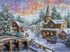 Counted Cross Stitch Kit HOLIDAY VILLAGE Christmas Dimensions Gold Collection