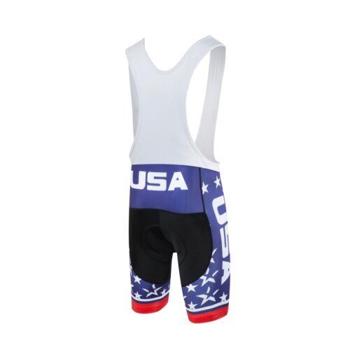 USA Men/'s Cycling Bib Shorts Padded Bike Bicycle Cycle MTB Bib Shorts S-5XL