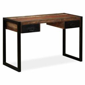 vidaXL Schreibtisch Massivholz Mango Computertisch Arbeitstisch Bürotisch