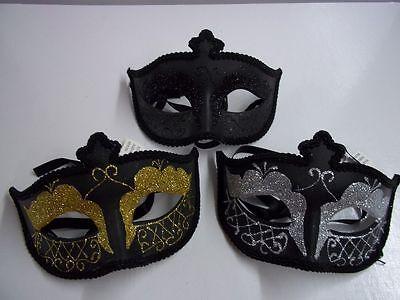 Mask Black Venetian Mask Costume Halloween Mask Masquerade Black Silver Gold