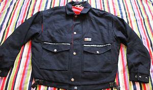 RUKKA-Finland-Jacket-Vintage-75-WOOL-Dark-Blue-Red-Excelent-Design-VERY-RARE