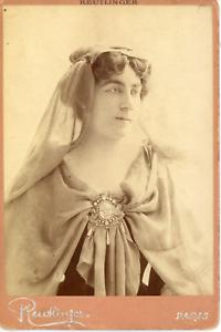 Reutlinger-Charles-France-Louise-Grandjean-chanteuse-1870-1934-Vintage-si