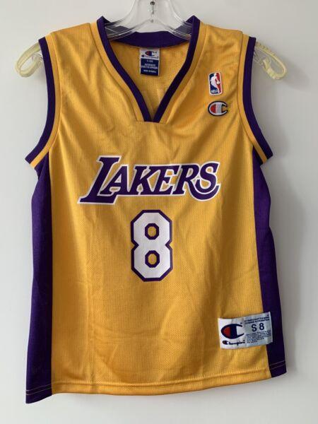 LA LAKERS Kobe Bryant # 8 Champion NBA Jersey Youth Size Small (8 ...