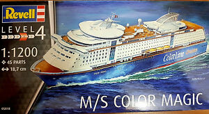 M-S-Color-Magic-Color-Lines-Cruises-Revell-Kit-1-1200-05818-Nuova