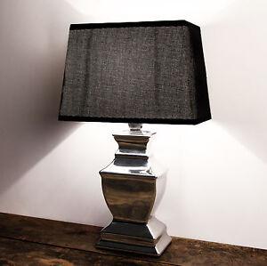 tischleuchte lil london stehlampe keramik silver platet silber lampe shabby chic ebay. Black Bedroom Furniture Sets. Home Design Ideas