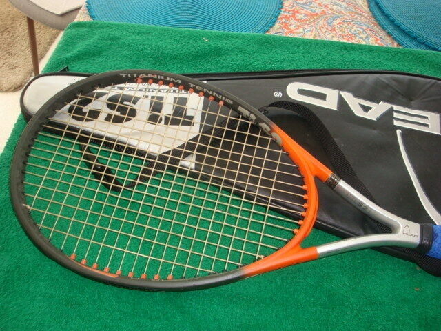 HEAD Ti S2  CZ Comfort Zone Tennis Racquet 4 1 2 Grip with Case  EXCELLENT