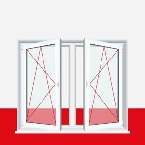 Fenster-Drutex-Iglo-5-Classic-Weiss-2-flg-DK-DK-Kunststofffenster-mit-Pfosten