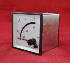 Weigel Amperemeter 0-600 A Bimetall-Dreheisen-Messwerk analog Einbaumessgerät