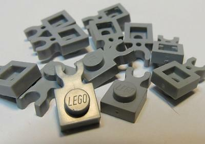 LEGO New Lot of 100 Dark Bluish Gray 1x1 Clip Light Star Wars Plates