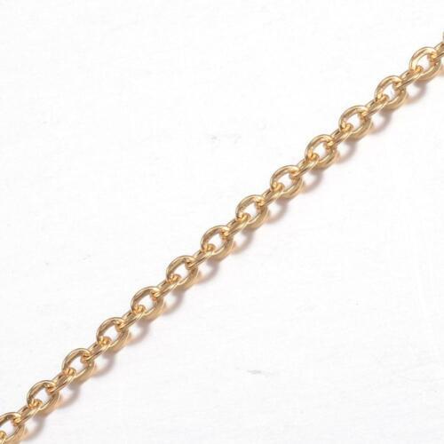 Metall Gliederkette kleine Glieder gold 2,5x2,0x0,5mm 1m #05.00285