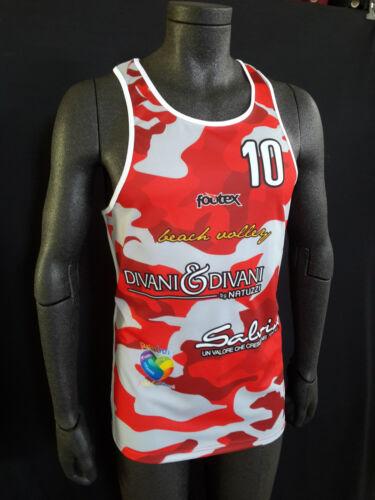 FOOTEX Completo Canotta e Pantaloncino Beach Volley Camouflage Rosso//Grigio