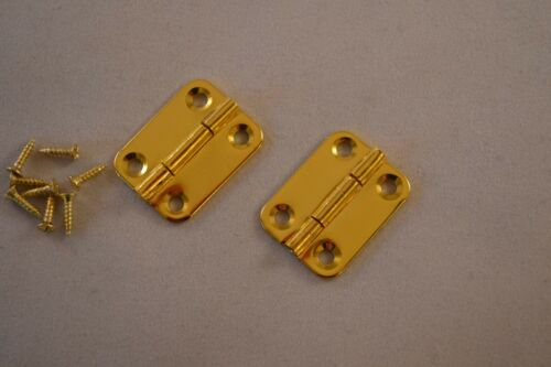Prokraft PKR GPH25 pair Gold Plated Hinge Set  1/""