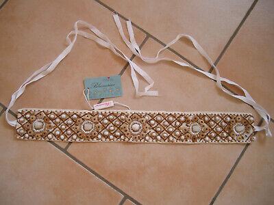 (28) Miss Blumarine Cintura Con Perle E Pietre Per Associare Lunghezza Ca 150 Cm-mostra Il Titolo Originale Valore Eccezionale
