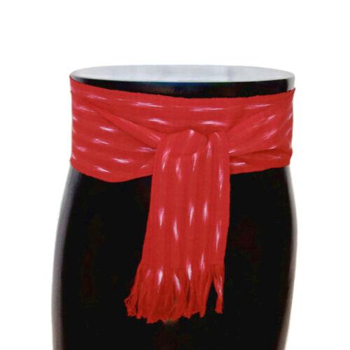 Red Pirate Sash Bohemian Belt Striped Ikat Fabric Woven Sash Belt 3CHOICES