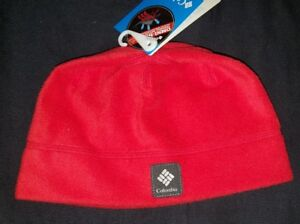 NWT kids youth Columbia red Agent heat beanie hat skull cap omni ... 855a95dba89