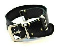 Zulu Watch band, ,Leather Handmade strap,Military style, 18/20/22/24 mm