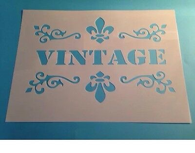 Vintage Stencil Home Word A3 Paint Craft Fabric  Sheet Airbrush Wall Plaque Sign