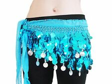 Wholesale Unisex Chiffon Belly dancing hip scarf $4.50 each for a Lot of 8