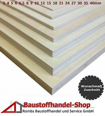 13,68€//m² 13 Platten Sperrholz Multiplex Birke  8mm 30 x 50 cm Holzplatte