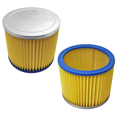 2 X Wet & Dry Cylinder Filters For Earlex Wdacc13 30 Litres Canister Vacuum