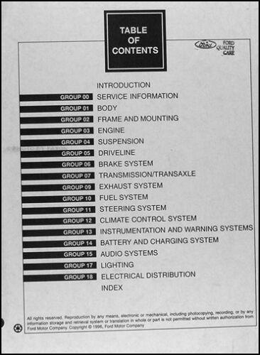 1997 Crown Victoria and Grand Marquis Repair Shop Manual Ford Mercury Original