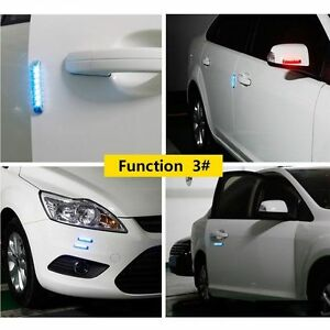 Image is loading 2-Pcs-Universal-Protector-Bar-Warning-L&-Solar- & 2 Pcs Universal Protector Bar Warning Lamp Solar LED Car Body Door ...