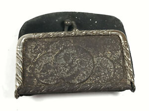 Antique-Chas-D-Carter-Dry-Goods-Lawrenceville-Illinois-Advertising-Change-Purse