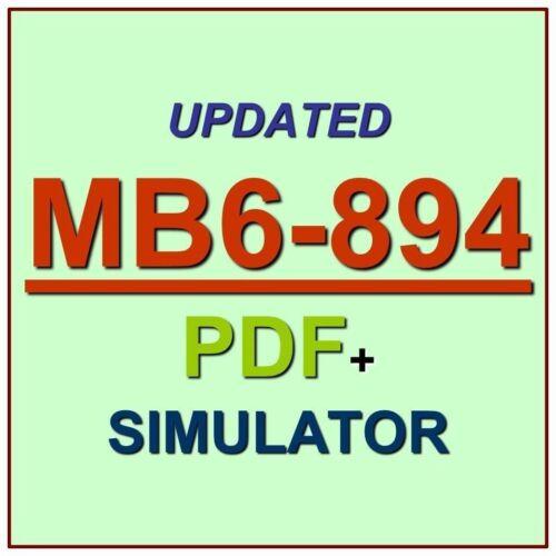 Latest MB6-894 Verified Practice Test Exam QA PDF+Simulator