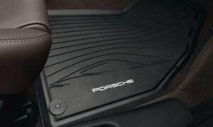 Genuine Oem Porsche Rubber Floor Mats Boxster 981 Black