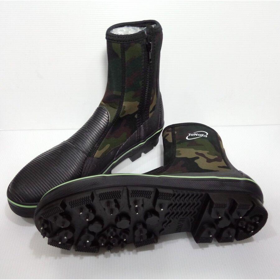 TANAKA Fishing Boots shoes Anti-Slip Nails Spikes Waterproof US Size 7-11