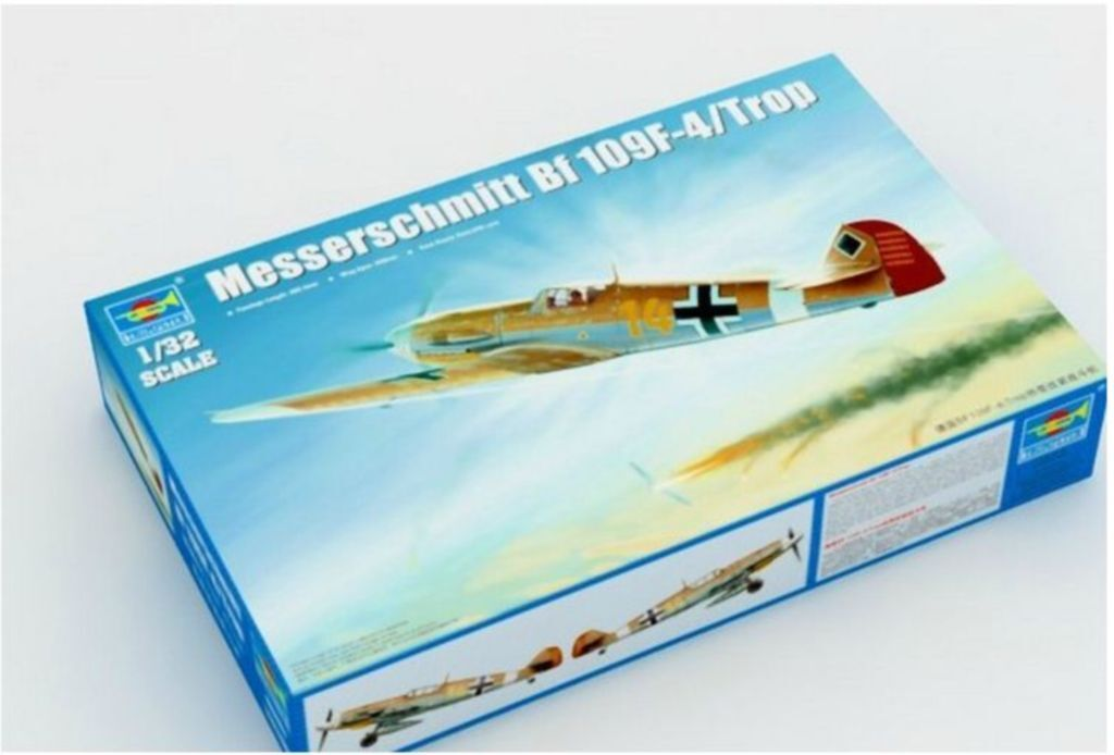 Trumpeter 1 32  02293 Messerschmitt Bf109F-4 Trop model kit ◆
