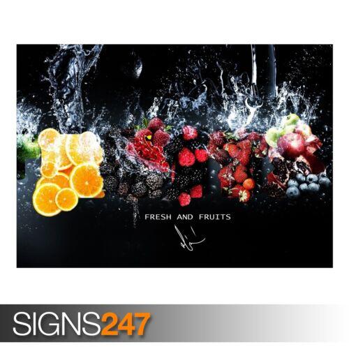 FRESH FRUITS Photo Picture Poster Print Art A0 A1 A2 A3 A4 AE329