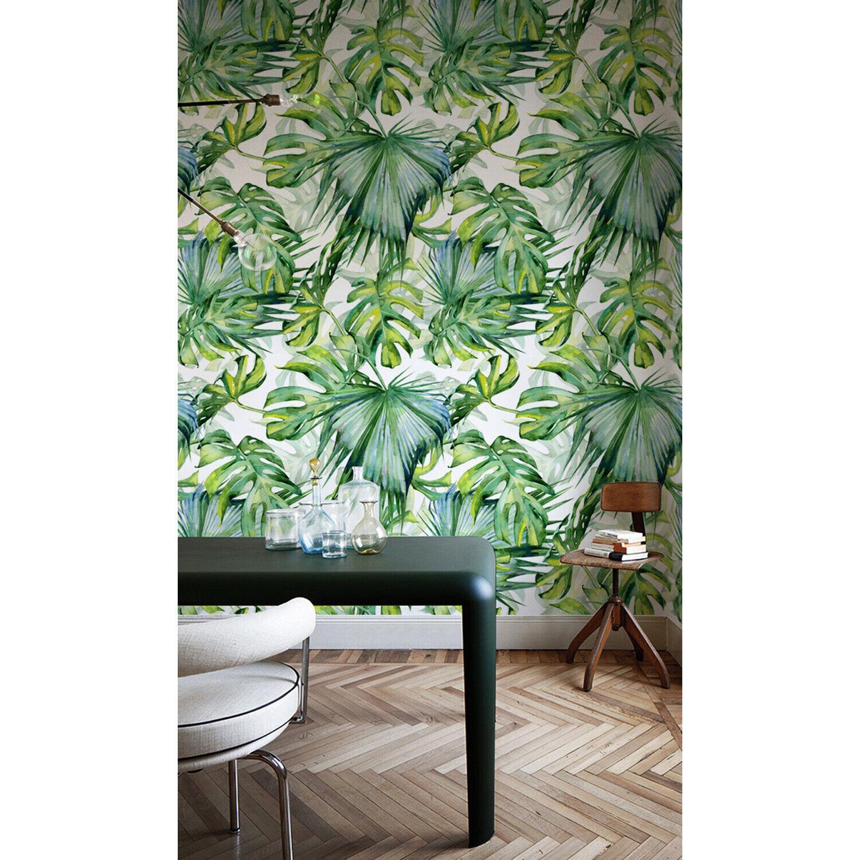 Dense Jungle Removable   Botanical Artwork   Tropical Leaves   Hawaiian style