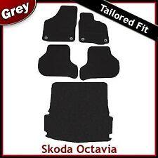 Skoda Octavia Mk2 Tailored Fitted Carpet Car +Boot Mats GREY (2004...2013) Round
