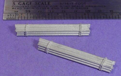 S SCALE Sn3 1//64 WISEMAN MODEL SERVICES DETAIL PARTS S371 PLUMBING PIPE BUNDLES