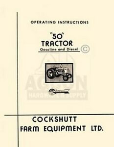 Cockshutt-50-Gas-amp-Diesel-Tractor-Operating-Manual