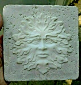 Green-man-tile-mold-abs-plastic-reusable-casting-mould-6-034-x-6-034-x-1-3-034-thick