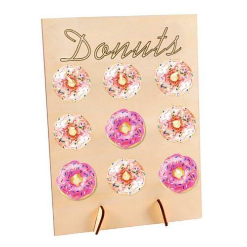 Rustikale Holz Donut Display Wandregal f Babypartys Brautdusche Hochzeiten