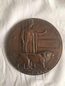 WW1-Memorial-Death-Plaque-William-Harold-Spencer-British-Army-Dead-Mans-Penny